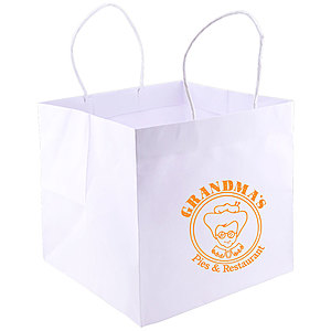 Wide Gusset Takeout Bag 10.25 X 10 X 10