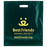 Color Patch Handle Bags 1.75 Mil. 16 X 18 + 4