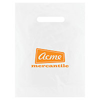 Frosted Die Cut Merchandise Bags 9 X 12