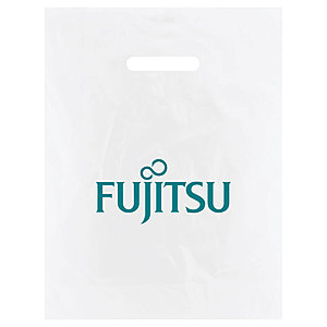 Frosted Die Cut Merchandise Bags 12 X 15