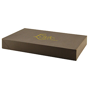 Pop Up Apparel Box   Color Tinted Kraft 15 X 9.5 X 2