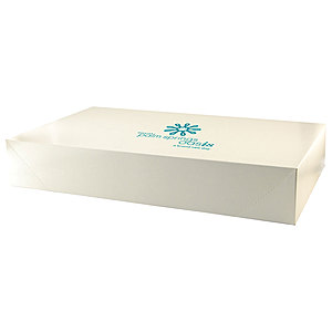 Pop Up Apparel Box   Frost White Gloss 24 X 14 X 4