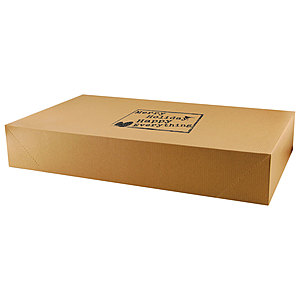 Pop Up Apparel Box   Natural Kraft 24 X 14 X 4