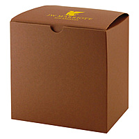 Fold Up Gift Box   Color Tinted Kraft 8 X 8 X 8.5