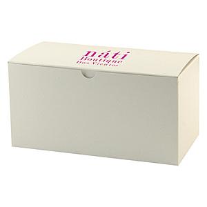 Fold Up Gift Box   Frost White Gloss 12 X 6 X 6