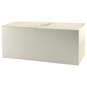 Fold Up Gift Box   Frost White Gloss 14 X 6 X 6