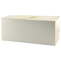 Fold Up Gift Box   Frost White Gloss 14 X 6 X 6