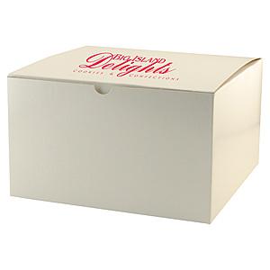 Fold Up Gift Box   Frost White Gloss 10 X 10 X 6