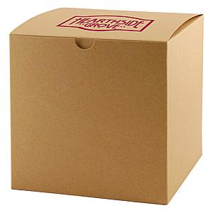Fold Up Gift Box   Natural Kraft 7 X 7 X 7