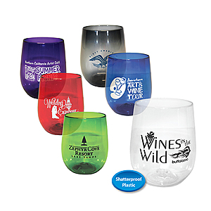 12 Oz. Plastic Stemless Wine Glass