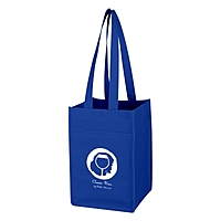Non Woven 4 Bottle Wine Tote Bag