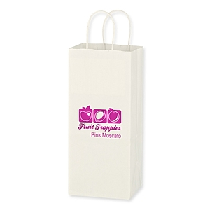 "Kraft Paper White Wine Bag   5.25"" X 13"""
