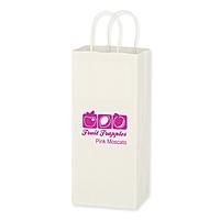 "Kraft Paper White Wine Bag   5.25"" X 13"""
