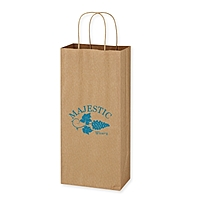 "Kraft Paper Brown Wine Bag   5.25"" X 13"""