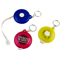 3' Round Tape Measure W/Key Chain