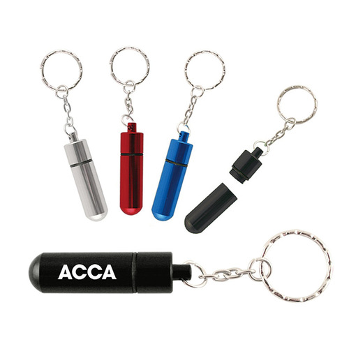 Aluminum Pill Tube W/Key Chain