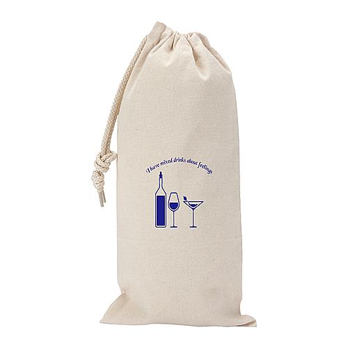 10 Oz. Canvas Drawstring Wine Gift Bag