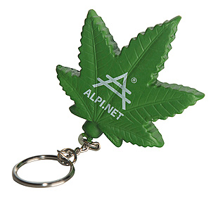 Cannabis Leaf Stress Reliever Keyring