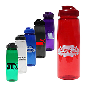 30 Oz. Poly Saver Pet Bottle With Flip Top Cap