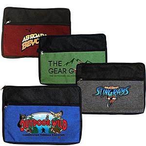 Double Zipper Accessory Bag, Full Color Digital