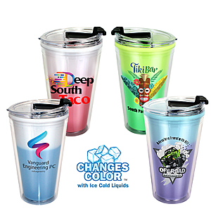 16 Oz. Mood Victory Acrylic Tumbler With Flip Top Lid, Full Color Digital