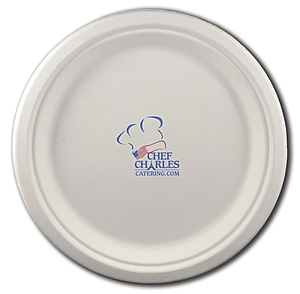 "8.75"" Round Eco Friendly Paper Plate"