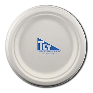 "6.75"" Round Eco Friendly Paper Plate"