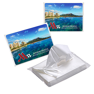 Quick Ship 10 Count Promo Tissues™ W/Full Color Label