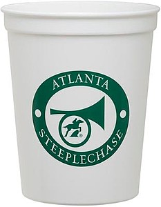 16 Oz. White Plastic Stadium Cup