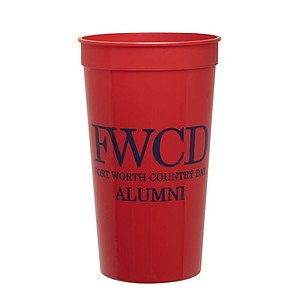 32 Oz. Smooth Colored Stadium Cup