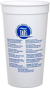 32 Oz. Smooth White Stadium Cup