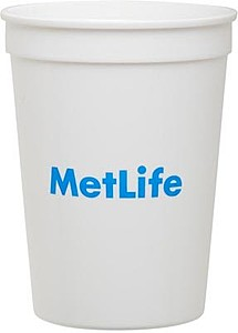 12 Oz. White Plastic Stadium Cup
