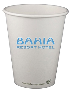 8 Oz. Eco Friendly Compostable Paper Hot Cup