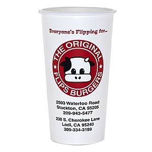 20/21/22 Oz. Paper Cold Cup   Flexographic Printed