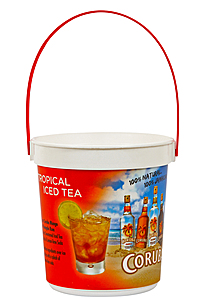 "32 Oz. Plastic Bucket & Handle W/Full Color ""In Mold Labeling"""