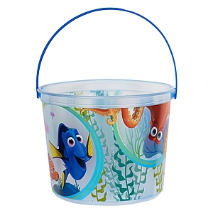 "64 Oz. Plastic Bucket & Handle W/Full Color ""In Mold Labeling"""