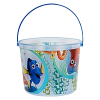 """64 Oz. Plastic Bucket & Handle W/Full Color """"In Mold Labeling"""""""