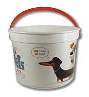 """48 Oz. Plastic Bucket & Handle W/Full Color """"In Mold Labeling"""""""