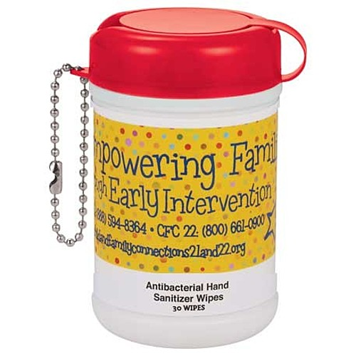 Photo of Mini Canister Anti Bacterial Wipes