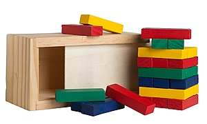 Multi Colored Block Wooden Tower Puzzle