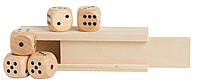 Wooden Dice In Box