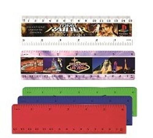 "Photo of 6"" Plastic Ruler (Front), Full Color Digital"