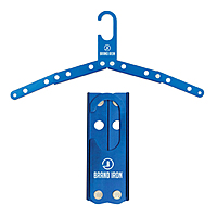 Blue Metal Foldable Travel Hanger