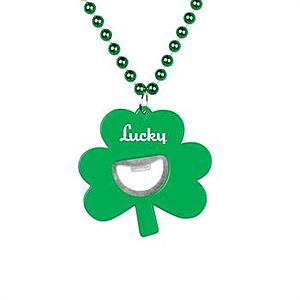 Shamrock Bottle Opener Medallion Beads