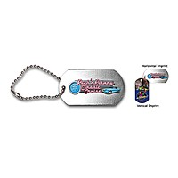 "Dog Tag , 4 1/2"" Ball Chain With Full Color Digital Imprinting"