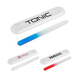 Tempered Glass Nail File In Plastic Case
