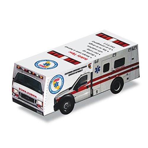 Foldable Die Cut Ambulance,Full Color Digital