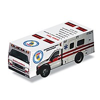 Foldable Die Cut Ambulance,Full Color Digital