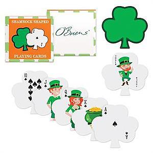 Shamrock Shaped Playing Cards