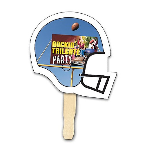 Photo of Football Shape Hand Fan, Full Color Digital